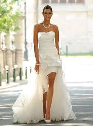 robe mari e originale robe de mariée courte devant longue derrière robe de mariée