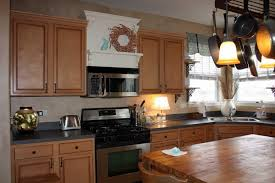 ceiling molding ideas cream oak wood kitchen cabinet wall mounted