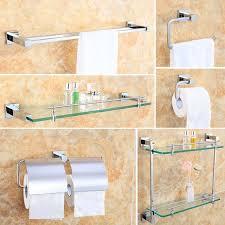 Bathroom Collections Sets Wall Mount Brass Chrome Bathroom Accessory Sets 6 Piece Bath