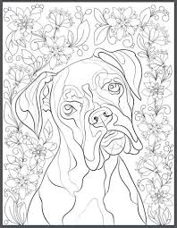 coloring page of a big dog de stress with dogs downloadable 10 page coloring book for adults