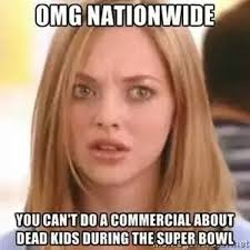 nationwide super bowl commercial meme causes twitter storm daily