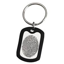 remembrance dog tags wholesale fingerprint memorial key ring large stainless steel dog