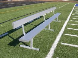 team benches for athletic fields aluminum steel and wood team