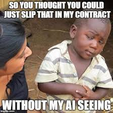 Contract Law Meme - bringing control accuracy and simplicity to legal automation