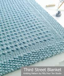 fifty four ten studio third blanket new knitting pattern