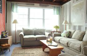 Cottage Rugs Fabulous Decorating Ideas Using White Loose Curtains And