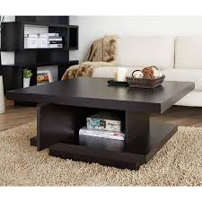 Wood Living Room Table Sets Furniture Of America Pagoda Coffee Table Hayneedle