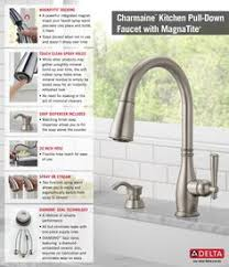 delta charmaine single handle pull sprayer kitchen faucet