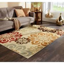 Brown And Orange Area Rug Very Nice Floral Brown Area Rug With Orange Flowers Brown Area