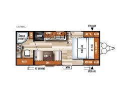 salem travel trailers floor plans 2018 forest river rv salem cruise lite 171rbxl adamstown pa
