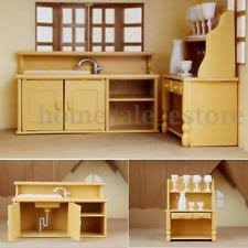 dollhouse kitchen furniture dollhouse kitchen set ebay