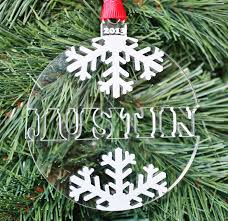 snowflake name ornament engraved ornament