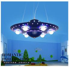 Children Bedroom Lighting Creative Ufo Blue Led Pendant Ls Boy Children Bedroom