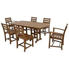 trex outdoor furniture monterey bay tree house 7 piece plastic