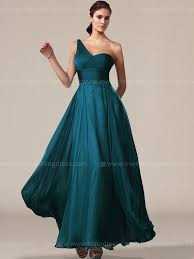 teal bridesmaid dresses one shoulder bridesmaid dress with slit skirt br012