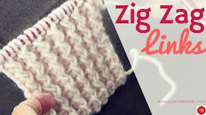 zig zag knitting stitch pattern zig zag links knitting pattern rib stitch knit zig zag knitted