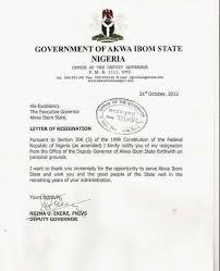 akwa ibom u0027 s deputy governor resignation letter politics nigeria