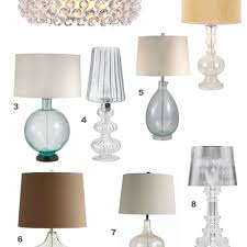 fillable glass lamps concord lamp and shade home lighting ideas