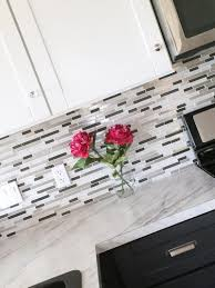 How To Install A Mosaic Tile Backsplash In The Kitchen by Mosaic Glass Tile Backsplash Ana White Woodworking Projects
