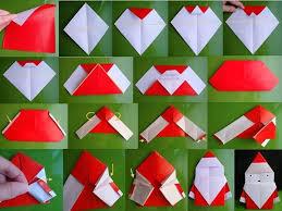 origami un santa clos para la epoca navideña cosas de chicas