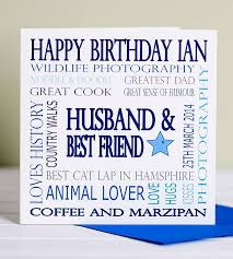 personalised special age male birthday card by lisa marie designs