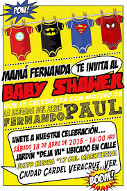 invitacion baby shower superhero fdo paul pinterest superhero