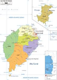 map of sao tome large political and administrative map of sao tome and principe