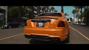 roll royce orange chrome orange rolls royce ghost featuring wald kit youtube