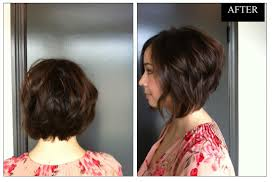 before and after picuters of long to short hair hair makeover from long to short and wavy neil george