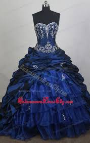 elegant royal blue sweetheart chapel design for quinceanera