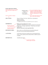 Free Basic Resume Examples by Easy Resume Templates