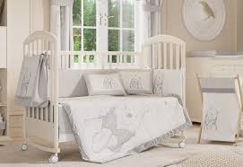 Nursery Bed Set Gray And White Color For Baby Nursery Bedding With Idea Winnie The