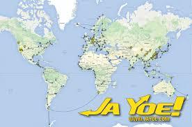 World Map With Hemispheres by Jayoe World Tour Map Jayoe