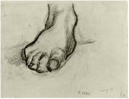 sketch of a foot by vincent van gogh 1501 drawing