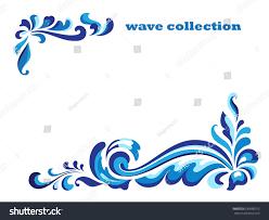 rectangle frame corner swirl ornaments blue stock vector 639986515