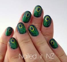 nail art for short nails tutorial 11 peacock nails