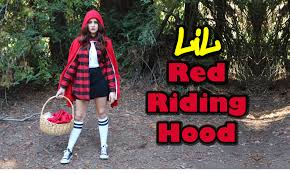 diy easy halloween costume chola little red riding hood