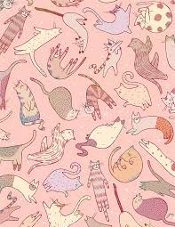 wallpaper cat whatsapp jongmee fashion and editorial illustration phone wallpapers