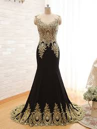 black and gold mermaid prom dresses gown and dress gallery