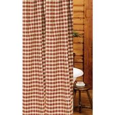 Check Shower Curtain Heritage House Check Shower Curtain Barn Country
