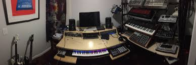 recording studio workstation desk studio furniture equipment lines