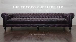 Chesterfield Leather Sofa Bed Chelsea Chesterfield Leather Sofa In Purple Home Page With Text