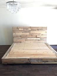 twin floor bed frame reclaimed wood platform bed base pallet
