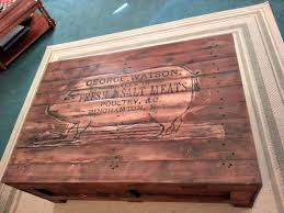 Shipping Crate Coffee Table - diy rustic butcher crate table reader feature the graphics fairy