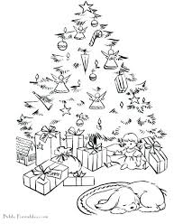 coloring page of christmas tree with presents christmas presents coloring page presents colouring in for kids