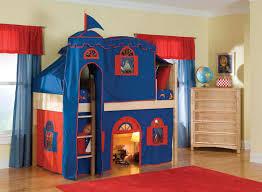 Castle Bunk Bed With Slide Best Safety Loft Bed With Slide And Tent Modern Loft Beds