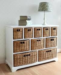wall mounted storage baskets compact 4 drawer wicker basket shelf