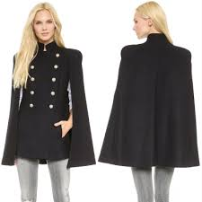 women u0027s fashion winter double breasted cloak cape coat