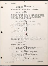 carrie fisher s script from empire strikes back at auction daily