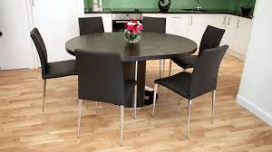 oval table and chairs modern round extending dark wooden dining set seats 4 6 oval table